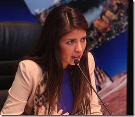 Alcaldesa Karen Rojo. (1)