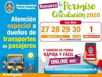 Vence plazo para renovar permiso de circulación para transportes de pasajeros