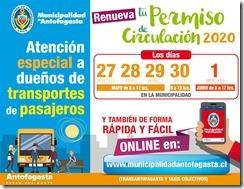 PERMISO ESPECIAL CIRCULACION 2020