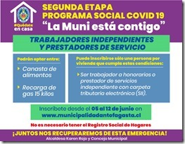 Afiche Plan Social Covid-19 II Etapa