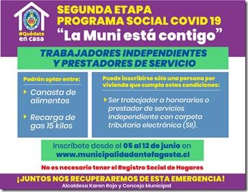 Plan Social Covid-19 II Etapa