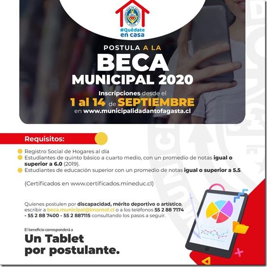 Beca Municipal 2020
