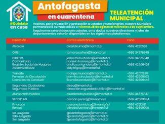Municipio de Antofagasta suspende atención por cuarentena preventiva