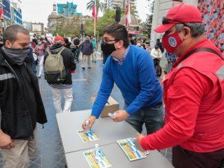 Municipio de Antofagasta difundió medidas de autocuidado en el centro de la ciudad
