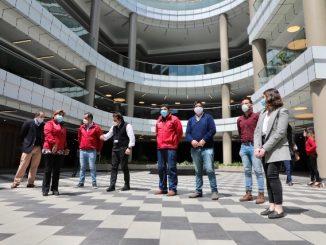 "Municipio participa en visita inspectiva de Mall ""Paseo La Portada"""
