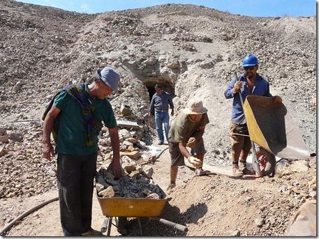 Mineros en Remolino