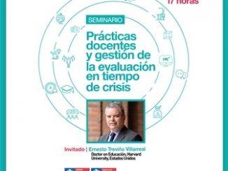 Ernesto Treviño expondrá en el Seminario Prácticas docentes y gestión de evaluación en tiempos de crisis