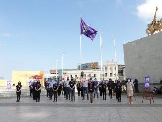 Municipio inicia semana de la No Violencia Contra la Mujer con izamiento de bandera