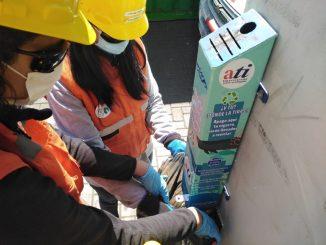 ATI y Fundación Desierto Azul reciclaron 40 kilos de colillas de cigarro del borde costero de Antofagasta