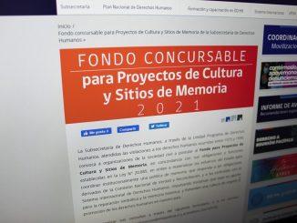 Postulaciones abiertas para el Fondo Concursable de Cultura y Sitios de Memoria 2021