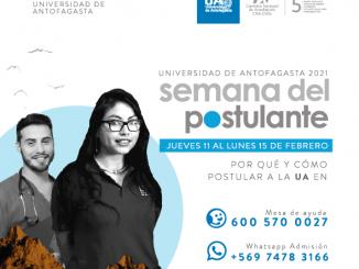 Admisión 2021: Universidad de Antofagasta invita a participar de la Semana del Postulante