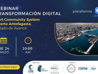 En Webinar Transformación Digital, Port Community System, Puerto Antofagasta mostrará los avances y su aporte a la optimización de la cadena logística