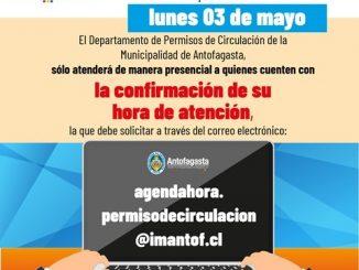 Desde el lunes 03 de mayo Municipalidad entregará hora vía mail a vecinos que soliciten renovar permiso de circulación