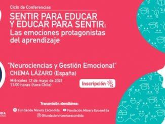 """Ciclo de Conferencias """"Sentir para Educar y Educar para Sentir: Las emociones protagonistas del aprendizaje"""" durante 2021"""