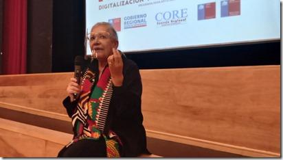 Seremi de las Culturas, Gloria Valdeės en jornada de asistencia