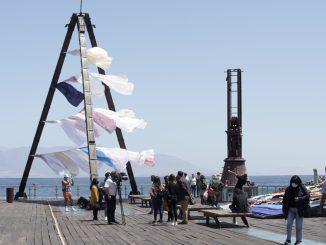 Obras de artistas de Nigeria, Chile, Costa Rica, Brasil, México y España desbordan el Muelle Histórico de Antofagasta